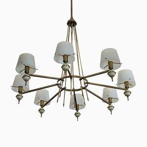Lámpara de araña italiana vintage de Stilnovo, años 50
