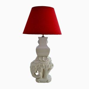 Lampada da tavolo a elefante in ceramica e ottone, Italia, anni '70