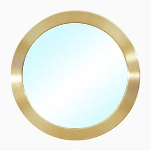 Round Model No. 134 Brass Mirror from Glasmäster, 1960s
