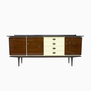 Deutsches Mid-Century Mahagoni & Messing Sideboard