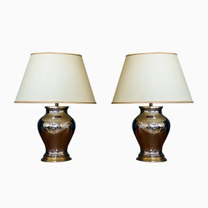 Large Italian Table Lamps, 1960s, Set of 2