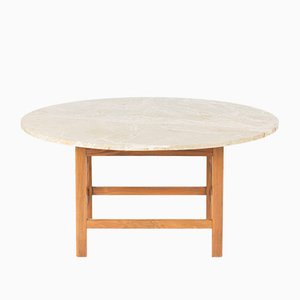 Mahogany and Marble Coffee Table by Josef Frank, 1950s