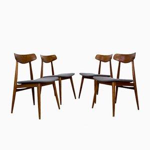 Mid-Century Modern Teak Stühle von Habeo, 1960er, 4er Set