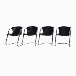 Chaises de Salon par Willy Rizzo pour Cidue, 1970s, Italie, Set de 4
