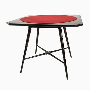 Tavolo da gioco in palissandro di Chiavari, Italia, anni '50