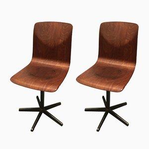 Industrielle Vintage Stühle von Pagholz, 1970er, 2er Set