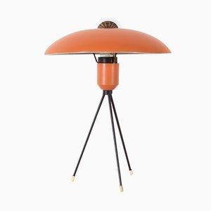 Lámpara de mesa holandesa trípode de Louis Kalff para Philips, años 50