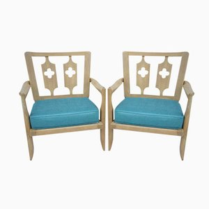 French Armchairs by Jacques Guillerme and Roger Chambron, 1960s, Set of 2