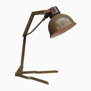 Lámpara militar industrial plegable, años 50