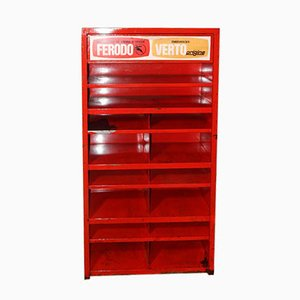 Red Workshop Cabinet, 1950s