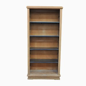 Oak and Metal Shelving Unit, 1930s