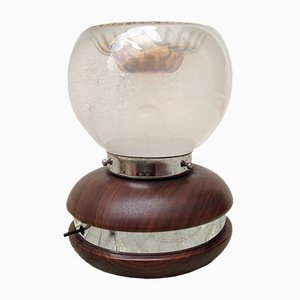 Vintage Aluminium & Muranoglas Tischlampe von Carlo Nason, für Mazzega, 1960er