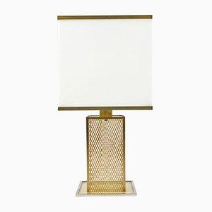 Italienische Vintage Lampe aus Plexiglas, Messing und verchromtem Metall