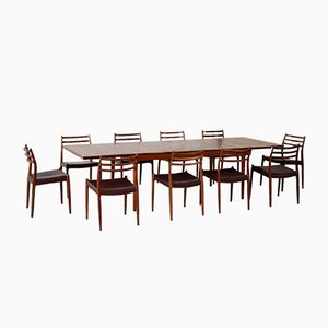Teak Dining Table & Chairs Set, 1960s