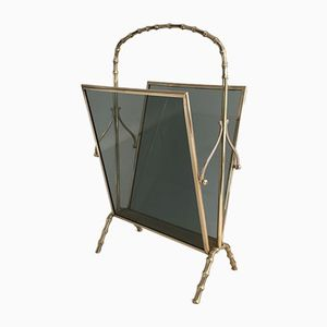 Porte-Revues en Bronze et en Verre de Maison Bagués, 1940s