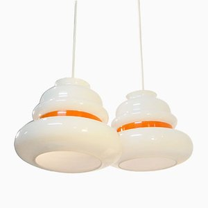 Glass Pendants from Venini, 1965, Set of 2