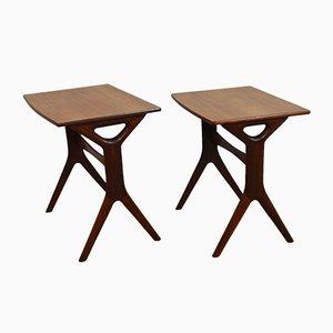 Tavolini a incastro vintage in palissandro di Johannes Andersen per Silkeborg, Danimarca, set di 2