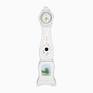 Antique Swedish Floral Painted Mora Clock