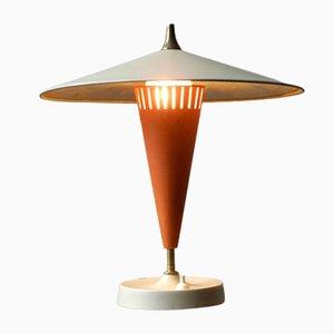 Lámpara de mesa Mid-Century muy grande de metal