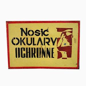 Cartello da fabbrica vintage industriale, Polonia
