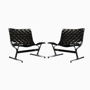 Easy Chairs PLR 1 par Ross Litten pour ICF1976, 1970s, Set de 2