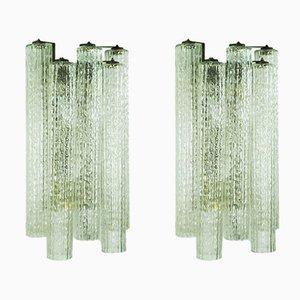 Lámparas de pared de Toni Zuccheri para Venini, años 60. Juego de 2