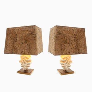 Lampade da tavolo corallo, set di 2