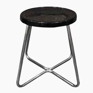 Functionalist Steel Stool, 1930s