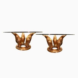 Vintage Bronze Cocktail Tables by J. D'aste, Set of 2