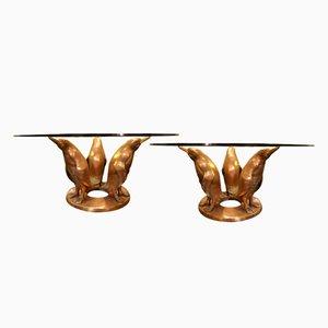 Vintage Bronze Cocktail Tables by J. D'aste, Set of 2