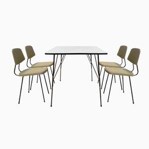Juego de comedor de Rudolf Wolf para Elsrijk Steel Furniture, años 50