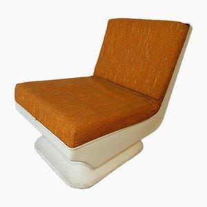Chaise Vintage Fireside avec Coquille en Résine
