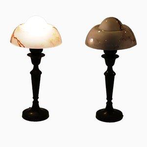 Lámparas de mesa danesas vintage. Juego de 2