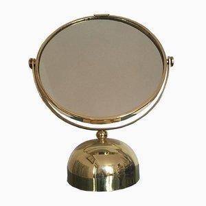 Specchio italiano in ottone, anni '60