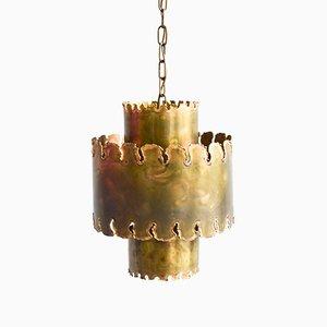 Lámpara colgante brutalista vintage de Holm Sørensen