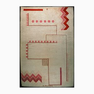 Tappeto annodato a mano di Ivan da Silva Bruhns per Manufacture de Savigny, anni '20