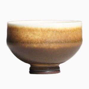 Vintage Miniature Bowl with Harefur Glaze by Berndt Friberg for Gustavsberg