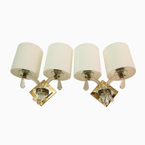 French Art Deco Wall Sconces from Maison Jansen, 1952, Set of 2