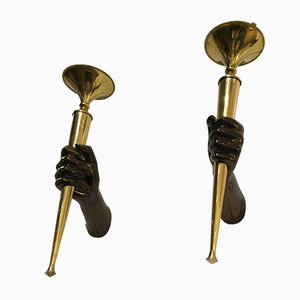 Bronze Torches from Maison Jansen, 1960s