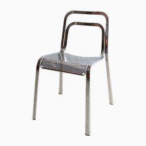 Italienischer Vintage Chrom Stuhl
