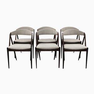 Model 31 Esszimmerstühle von Kai Kristiansen für Schou Andersen, 1960er, 6er Set