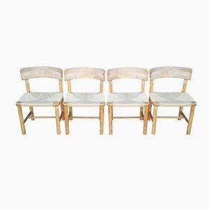 Kiefernholz Stühle von Rainer Daumiller für Hirtshals, 1970er, 4er Set