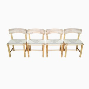Pine Chairs by Rainer Daumiller for Hirtshals, 1970s, Set of 4