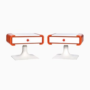 Vintage Space Age Side Tables, Set of 2