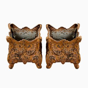 French Louis Philippe Style Planters, 1860s, Set of 2