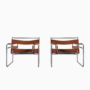 Vintage Wassily Armlehnstühle von Marcel Breuer für Knoll, 2er Set