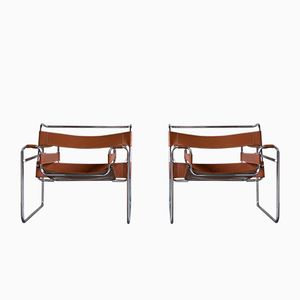 Vintage Wassily Lounge Chairs by Marcel Breuer for Knoll, Set of 2