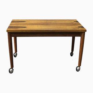 Dänischer Kleiner Palisander Tisch auf Rollen, 1960er