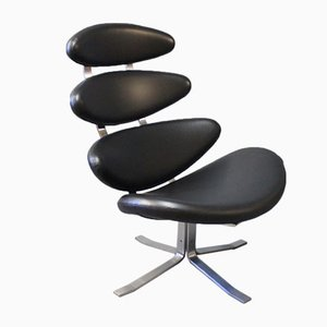 Corona EJ 5 Chair by Poul M. Volther for Erik Jørgensen, 1980s