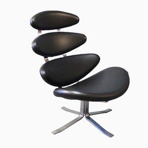 Corona EJ 5 Stuhl von Poul M. Volther für Erik Jørgensen, 1980er